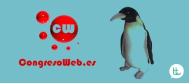 ¡Un pingüino en el Congreso Web de Zaragoza 2015!