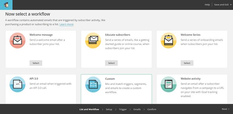 Automatización con MailChimp