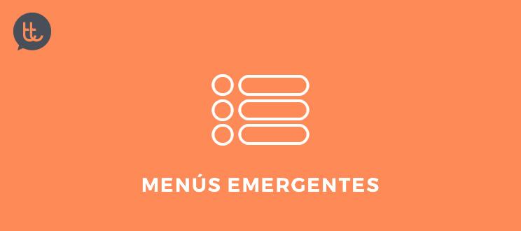 Tendencias de ux y diseño en acción: navegación oculta y menús emergentes