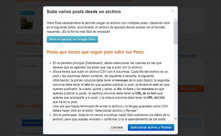 Programar tuits con imagenes con postcron