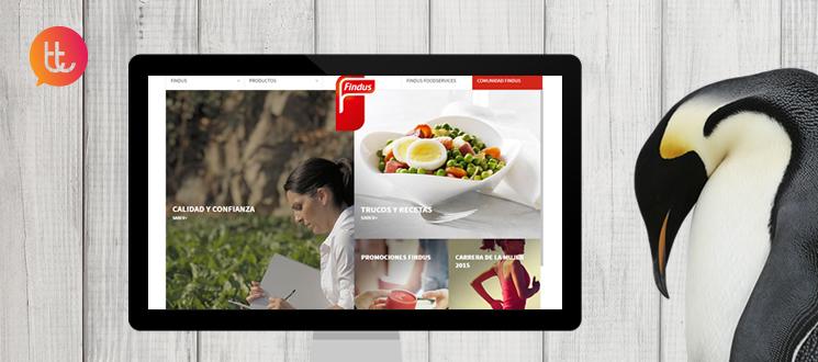 Rediseño del nuevo sitio web de Findus