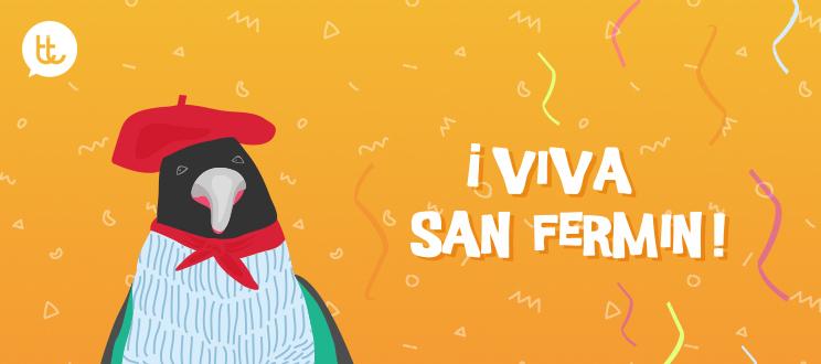 Valenttin ya viste de blanco y rojo: ¡Viva San Fermín!